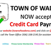 Picture saying Credit Card Payments Now Accepted