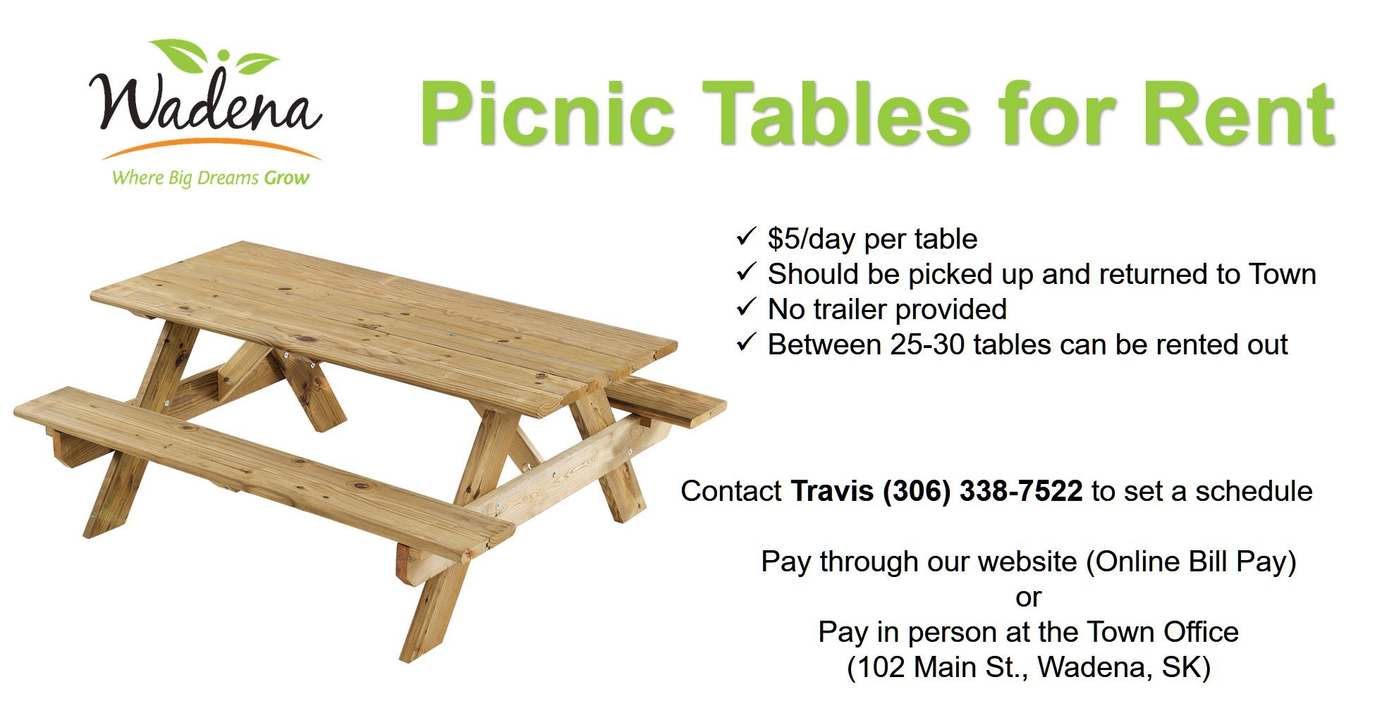 Picnic Tables for Rent Poster