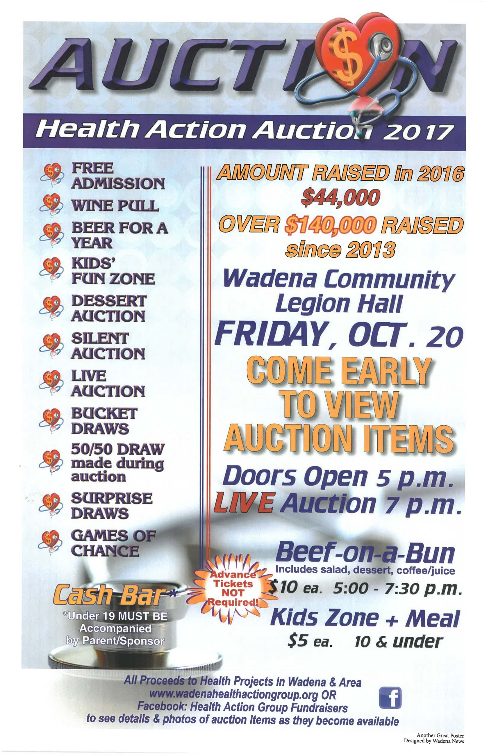 Wadena Health Action Auction 2017