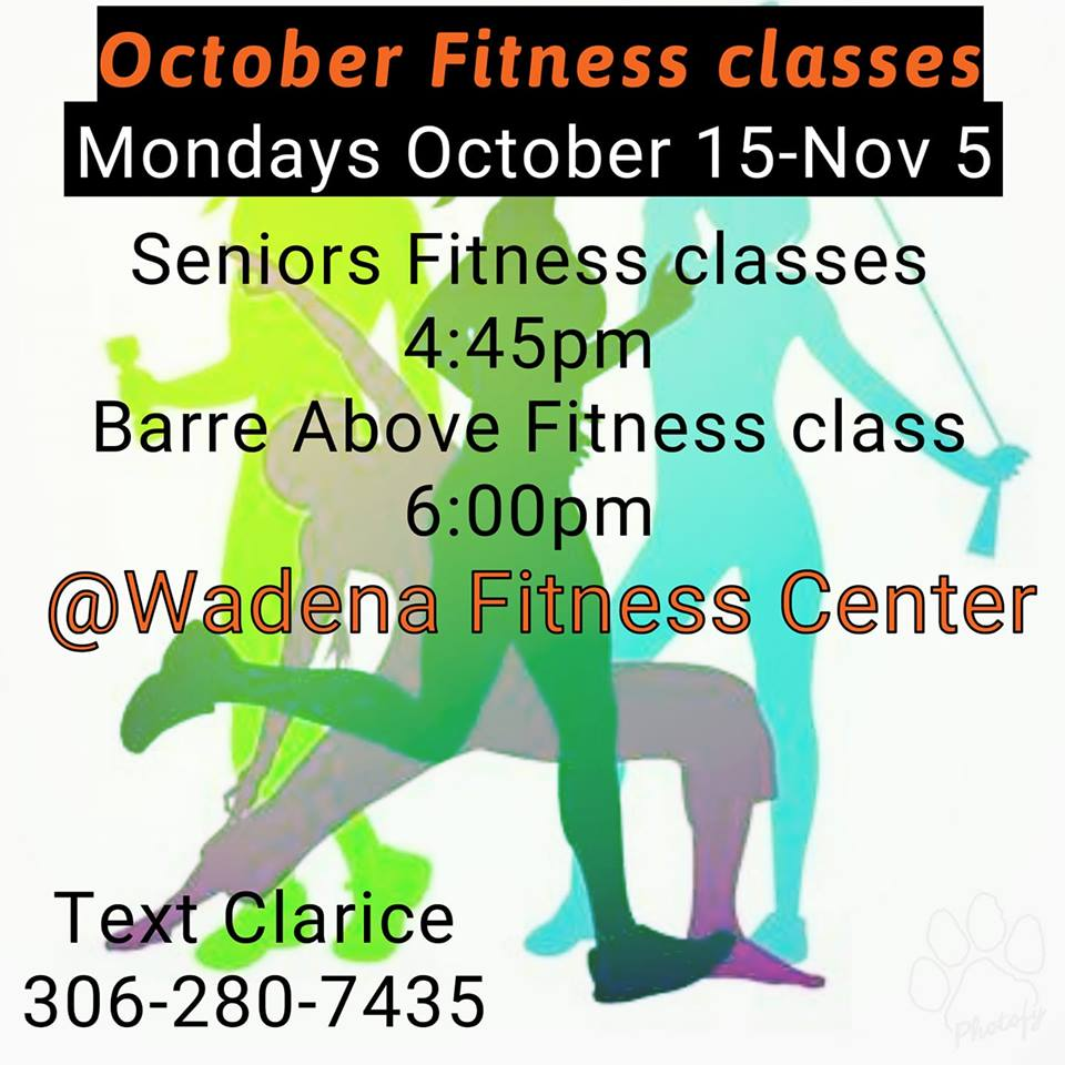 Oct Nov Fitness Classes